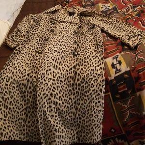 Vintage maxi velvet trench coat with belt satin li